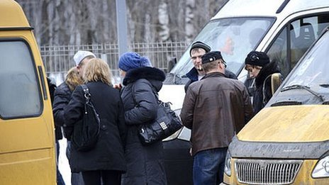 Yellow minibuses in Moscow (4 March 2012)