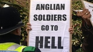 Luton protest against the Royal Anglian Regiment