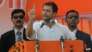 Rahul Gandhi campaigning in Uttar Pradesh
