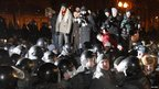 Police break up protest in Moscow