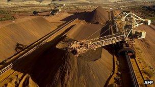 An iron ore mine in Australia