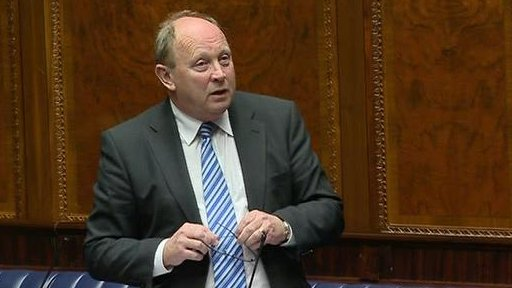 "The TUV's Jim Allister questioned the ""geographical extent of the bill""."