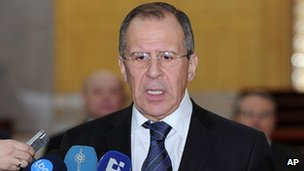 Russian Foreign Minister Sergei Lavrov (Feb 2012)