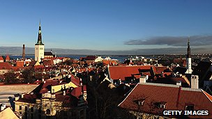 View over the roofs of Tallin