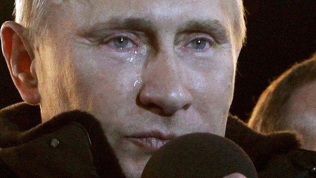 Vladimir Putin on election night