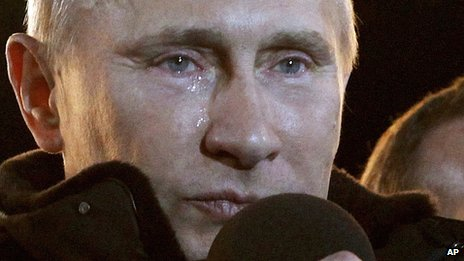 Vladimir Putin on election night