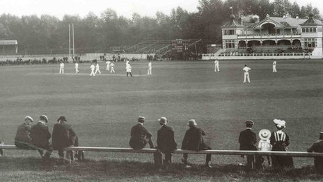 A cricket match at Cardiff Arms Park