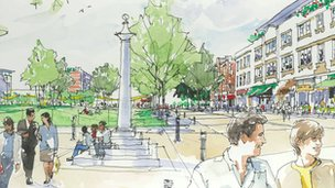 Artist&#039;s impression of Jubilee Square