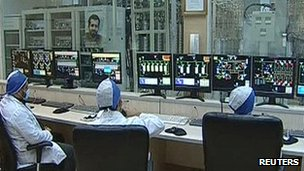 Control room at Natanz, Iran, 15 Feb 2012