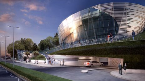 Artist's impression of the new Southend museum building