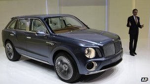 Bentley&#039;s Wolfgang Duerheimer with the new SUV