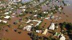 Floodwaters in eastern Australia