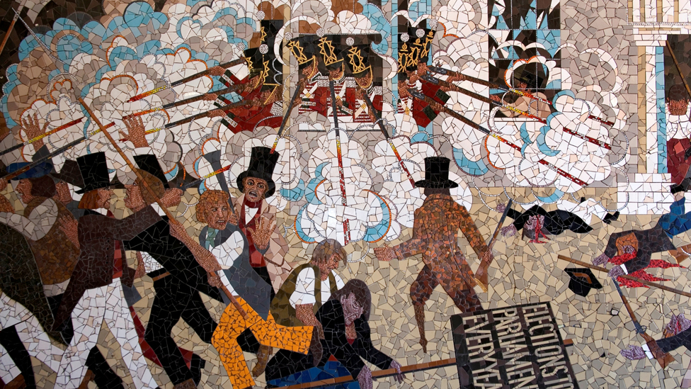 Bbc news in pictures newport chartist mural to come down for Chartist mural newport