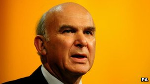 Secretary of State for Business Vince Cable