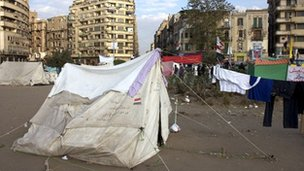 Tents in Tahrir Square