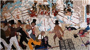 Scene from the mural