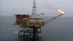 Gas rig offshore