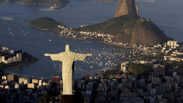 The statue of Christ the Redeemer, Brazil