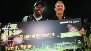 Cricketer Chris Gayle and Sir Allen Stanford [1 January 2008]