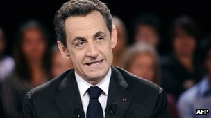 Nicolas Sarkozy at his interview on French television [6 March 2012]