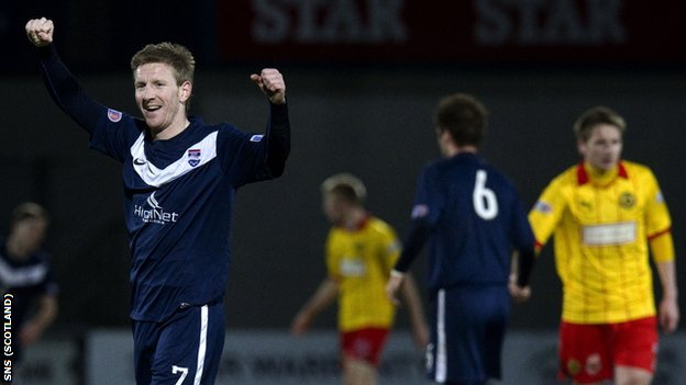 Ross County goalscorer Michael Gardyne