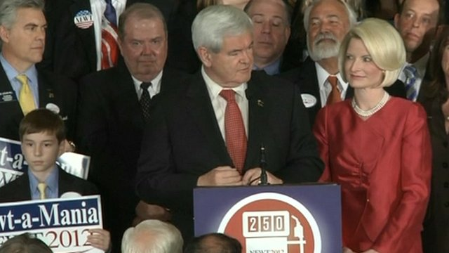 Republican Newt Gingrich