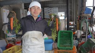 An eighth generation farmer in the city of Koriyama