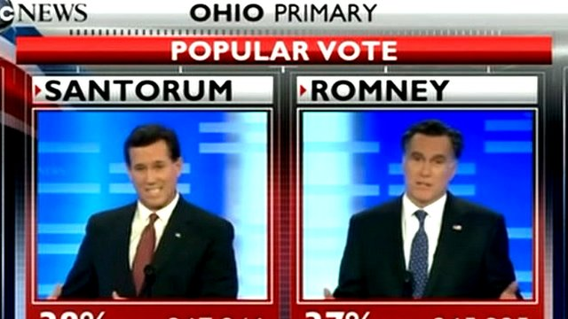 Screen graphic of Rick Santorum and Rick Santorum