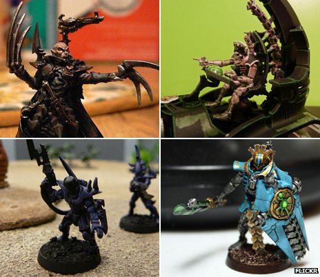 Warhammer figures, images via Flickr from AdmGR, Jordan Louis and Victor Yoon