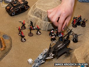 Warhammer game in progress, photo by James Kroesch via Flickr