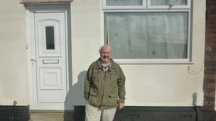 Neil Donner in front of 51 Well Street