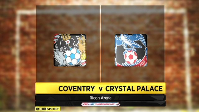 Coventry 1-1 Crystal Palace