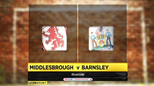 Middlesbrough 2-0 Barnsley