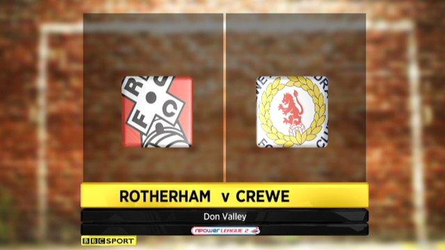 Rotherham 1-1 Crewe
