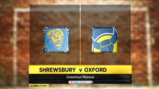 Shrewsbury 2-2 Oxford United