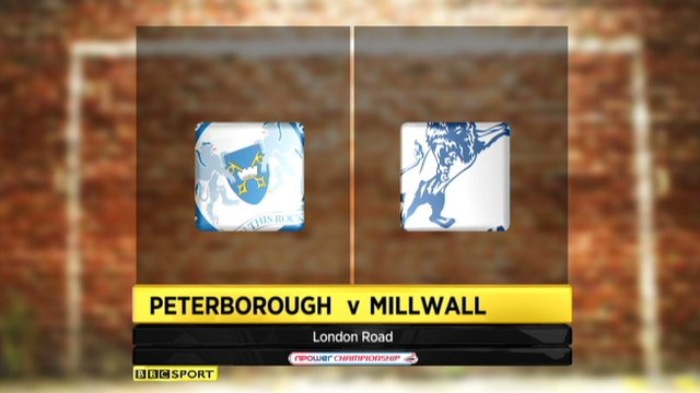 Peterborough 0-3 Millwall