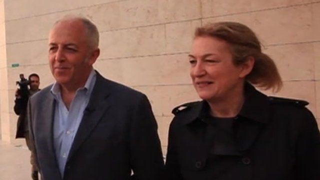 Jeremy Bowen and Marie Colvin