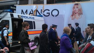 Mango hoarding on Oxford Street
