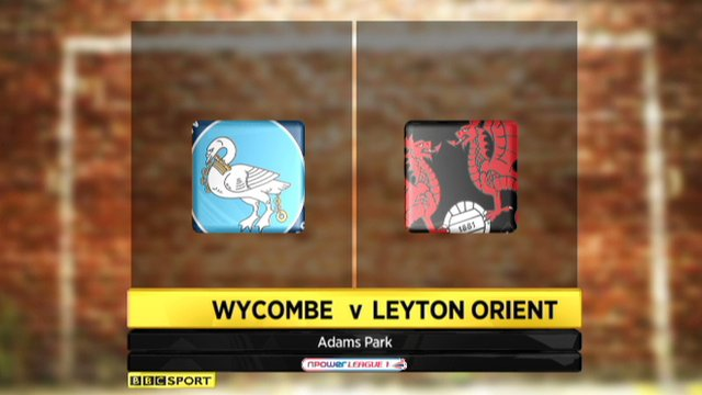 Wycombe 4-2 Leyton Orient