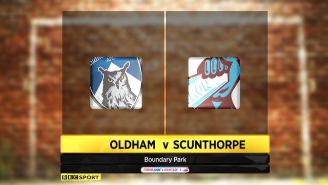 Oldham 1-2 Scunthorpe
