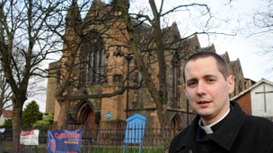 Father Ben Andrews, vicar of St Paul's Church in Grangetown, Cardiff.