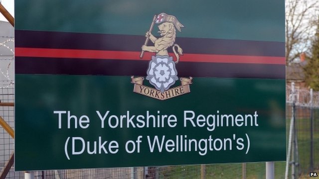 Yorkshire Regiment sign