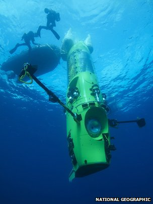 Deepsea Challenger (Mark Thiessen/National Geographic)