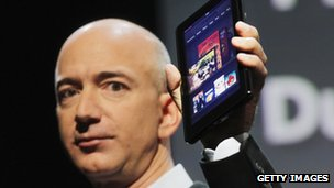 Amazon founder Jeff Bezos and the Kindle Fire