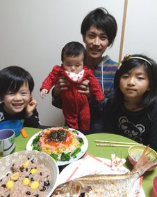 Dai Saito and his children