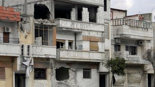 Bombed out Baba Amr district of Homs. File photo