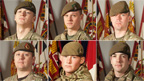 Sgt Nigel Coupe, Cpl Jake Hartley, Pte Anthony Frampton, Pte Christopher Kershaw, Pte Daniel Wade and Pte Daniel Wilford