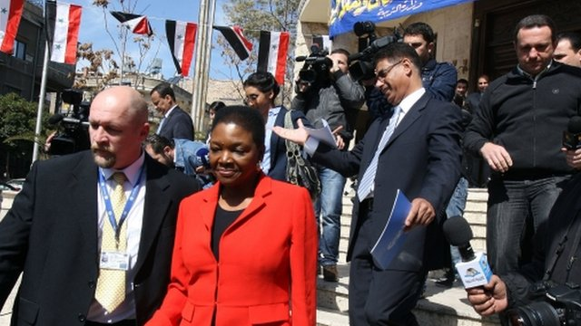 Baroness Amos in Damascus