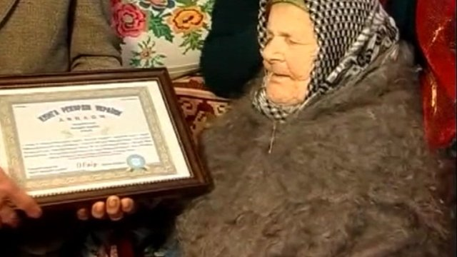 Katerina Kozak, the oldest person in Ukraine