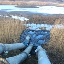 Pipes at the lagoon